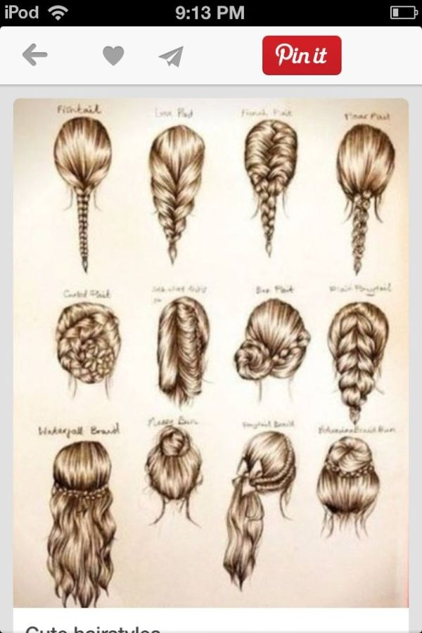 These are some cute easy hairstyles for school, or a party. by ...