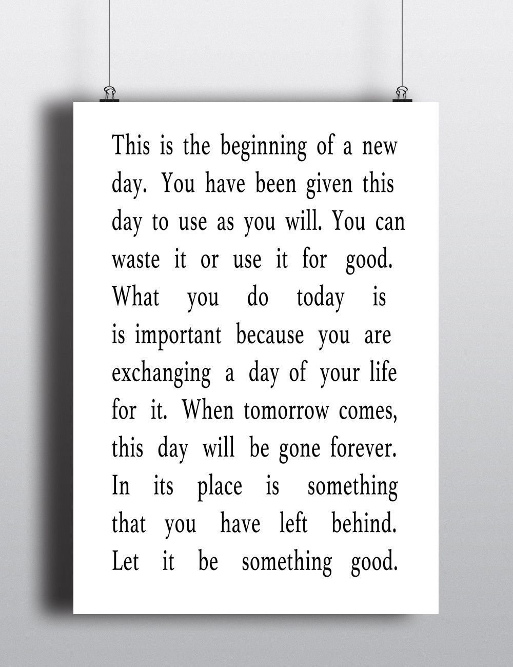 Beginning Of A New Day Quote Print New Day Quotes New Beginning Quotes New Day
