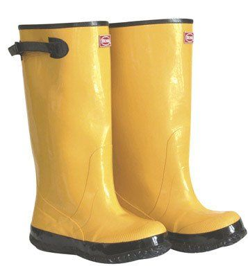"Boss 2KP448113 Boot Rubber Yellow 17"" Tall Size 13"