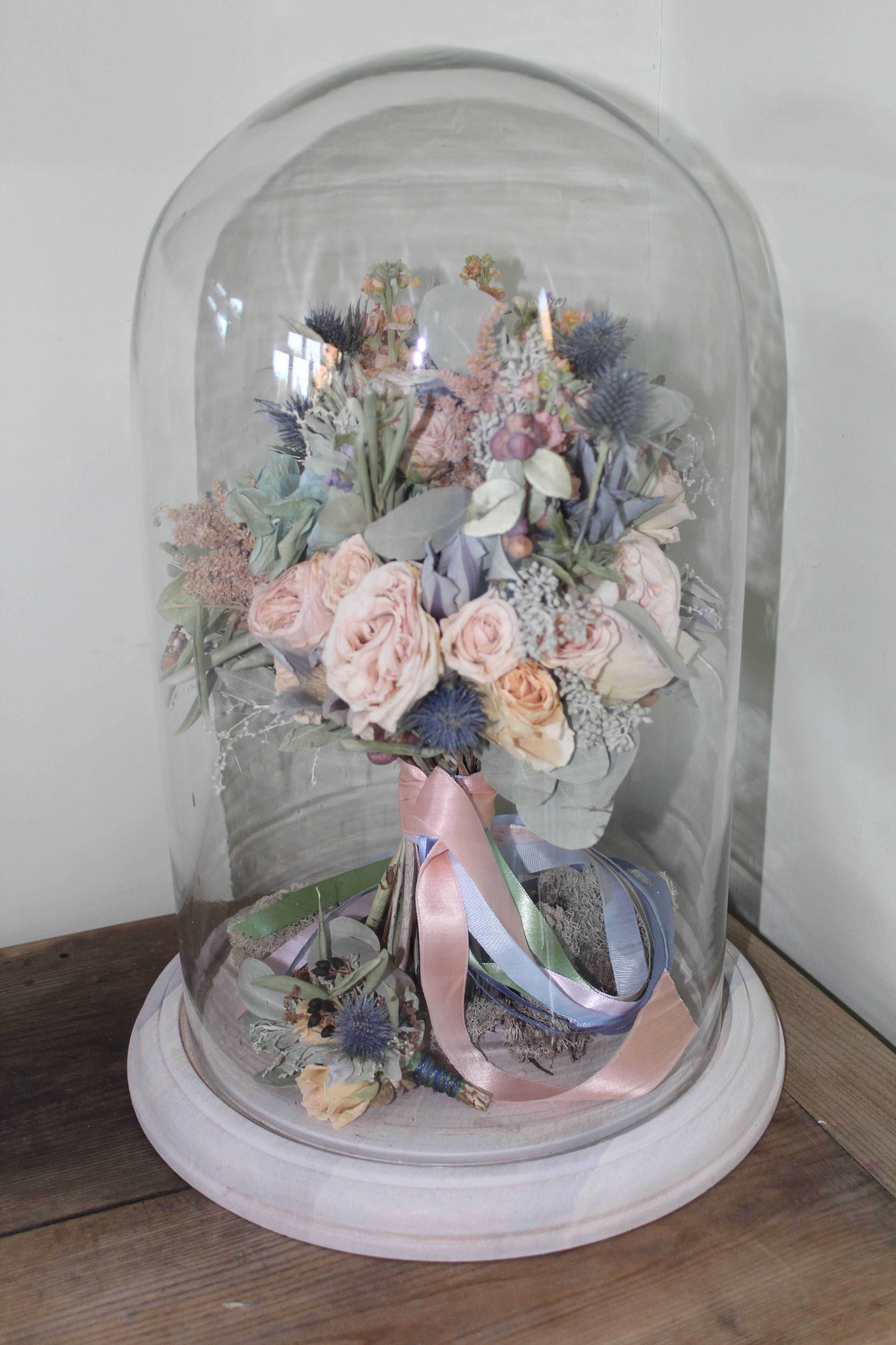 Preserved Wedding Bouquet And Bell Jar By Ambers Rose Florist Www