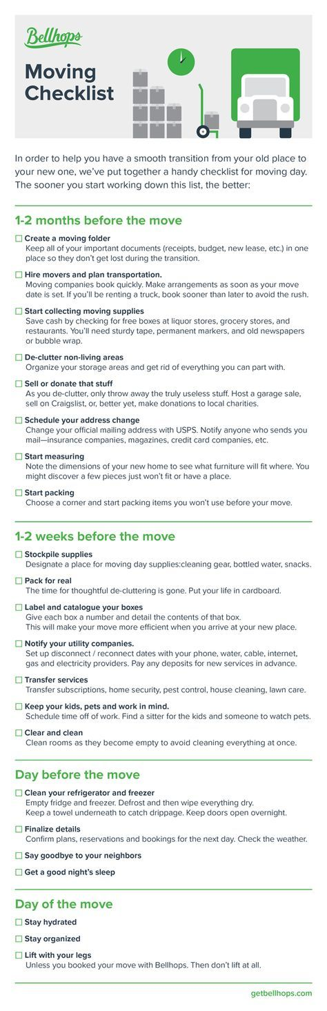 The Moving Checklist What To Check Off When You Re Moving Moving Checklist Moving Day Moving