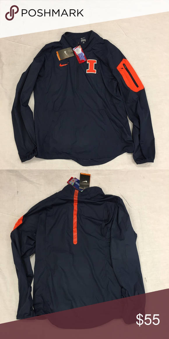 c91cf69e6 Illinois Illini Nike 1 2 Zip Navy Lockdown Jacket Illinois Illini Nike Navy  1 2 Zip Lockdown Windbreaker Jacket. Save money by bundling with other  items in ...