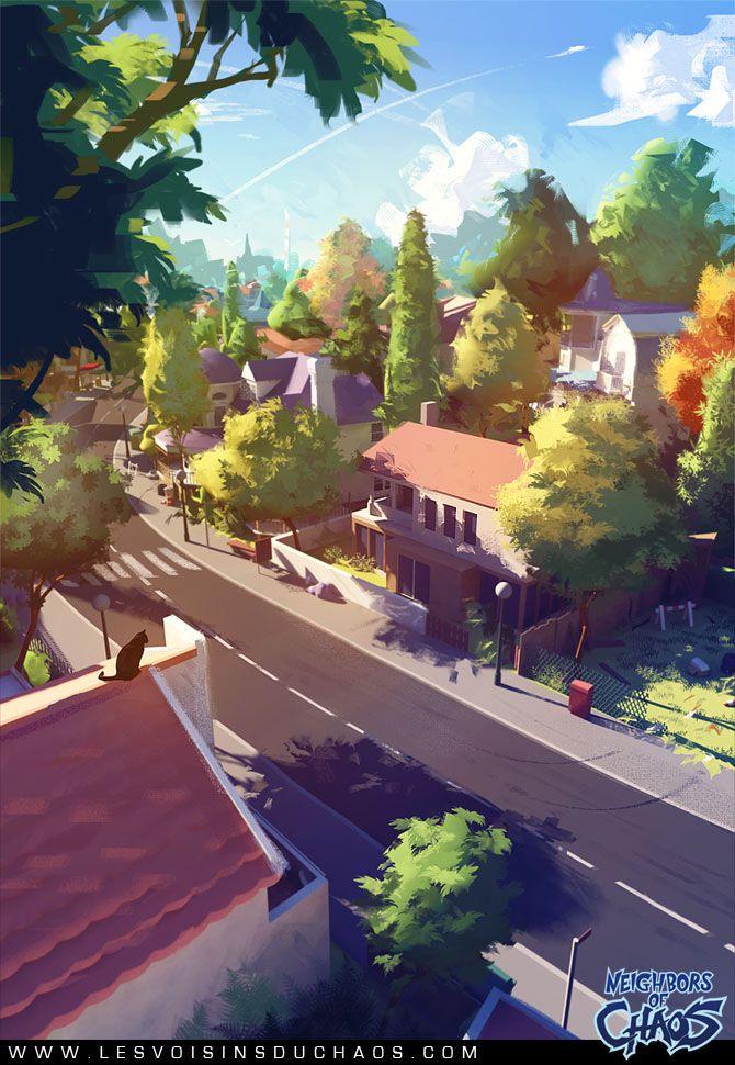 Sylvain Sarrailh Mushroom District On Behance Animation Art Environment Design Anime Scenery