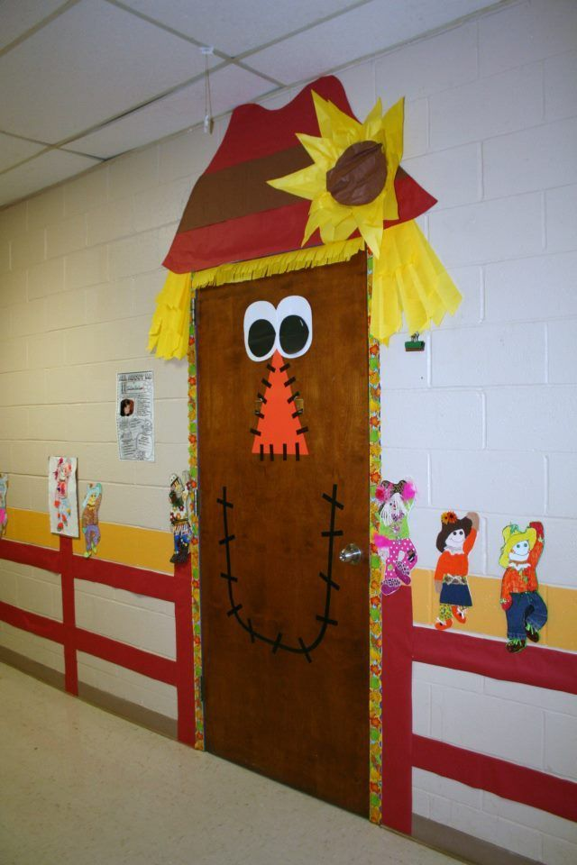 Fall classroom door decorations classroom fall door Cubicle bulletin board ideas