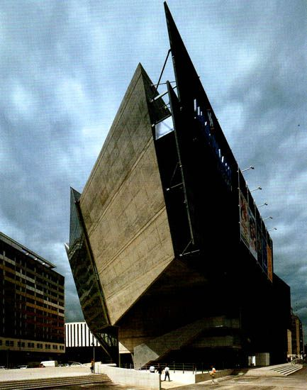 design-voyager: UFA Cinema Center, Dresden, 1998 - Designed by Architecture firm Coop Himmelb(l)au in 1998.