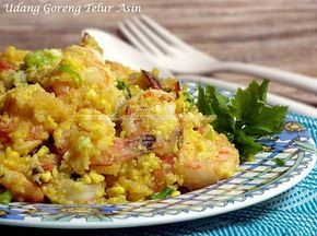 Fried Prawn with Salted Egg - UDANG GORENG TELUR ASIN