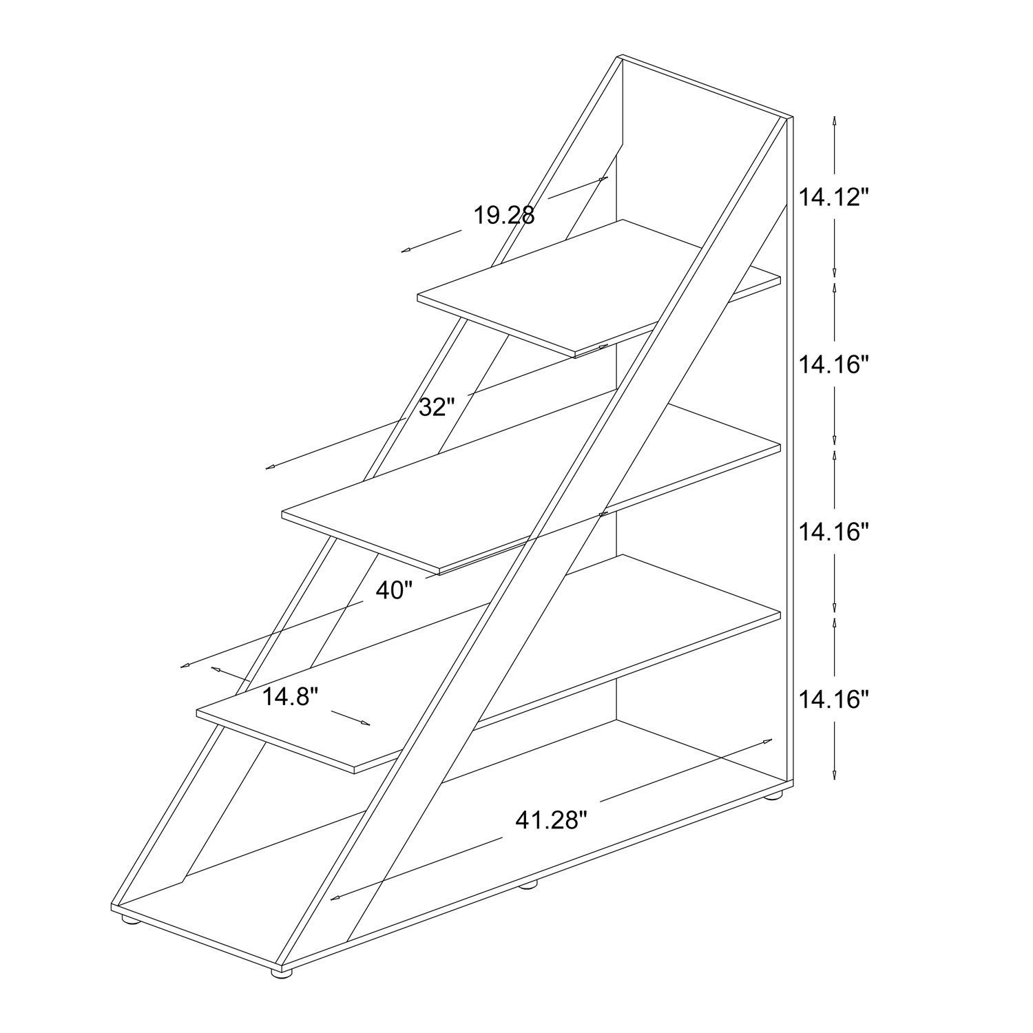Free up valuable space with this modern shelving unit from Psinta. Featuring a distinctive triangle shape, this abstract shelf creates a unique focal point, which is sure to turn heads. This shelf is