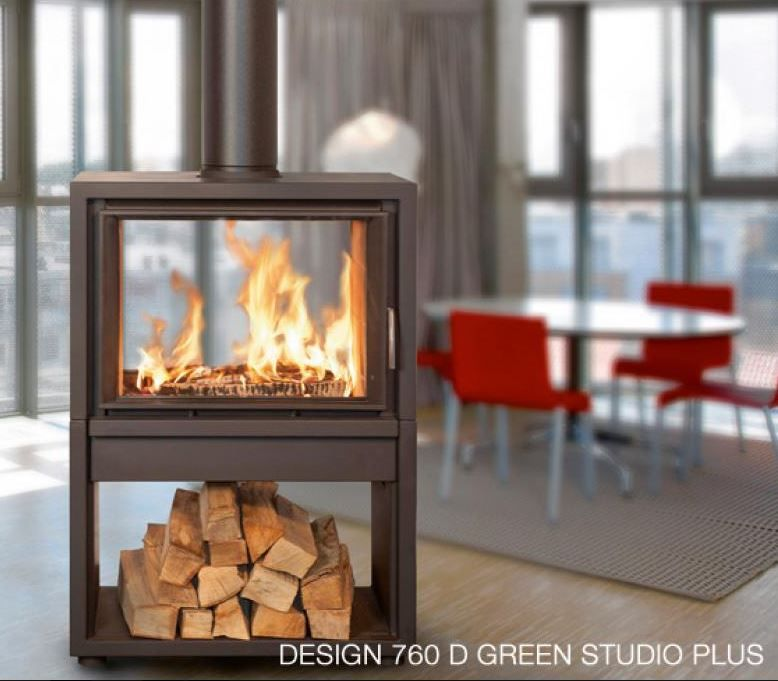 2 Sided Wood Burning Fireplace By Bodard Gonay Http Www Bgfires Com En Our Produc Contemporary Wood Burning Stoves Wood Stove Fireplace Wood Burning Stove