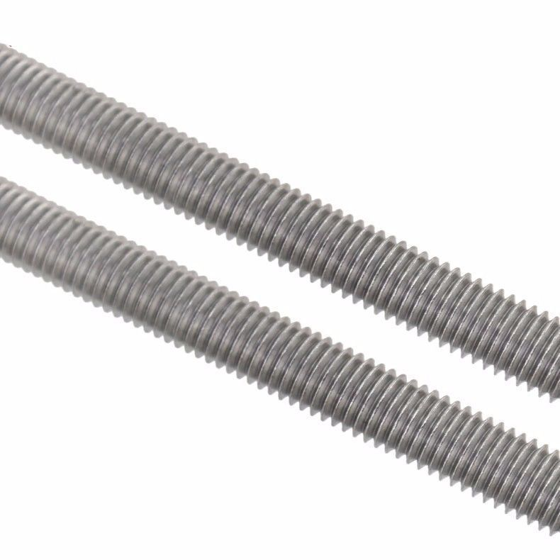 304 Stainless Steel Screw M3 M4 M5 M6 With Nuts Threaded Rod