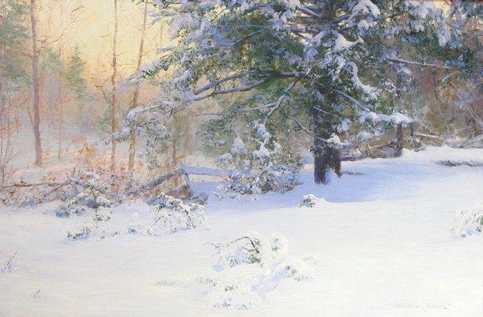 Pin by kathy sampson on art landscape pinterest peintre impressionniste impressionnisme - Paysage enneige dessin ...