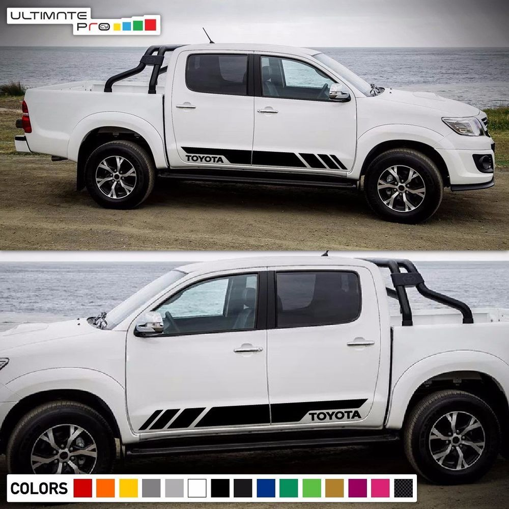 Decal Graphic Sticker Stripe Body For Toyota Hilux Hood