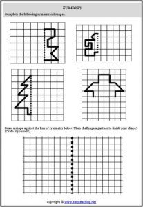Symmetry Worksheets and Resources • EasyTeaching.net