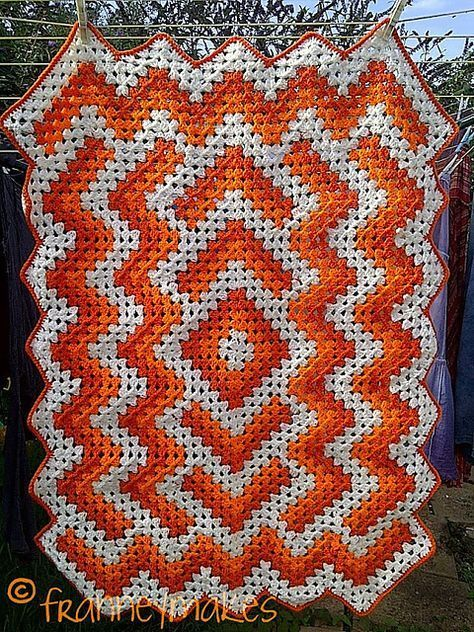 Ravelry Project Gallery For Drop In The Pond Lap Blanket Pattern By