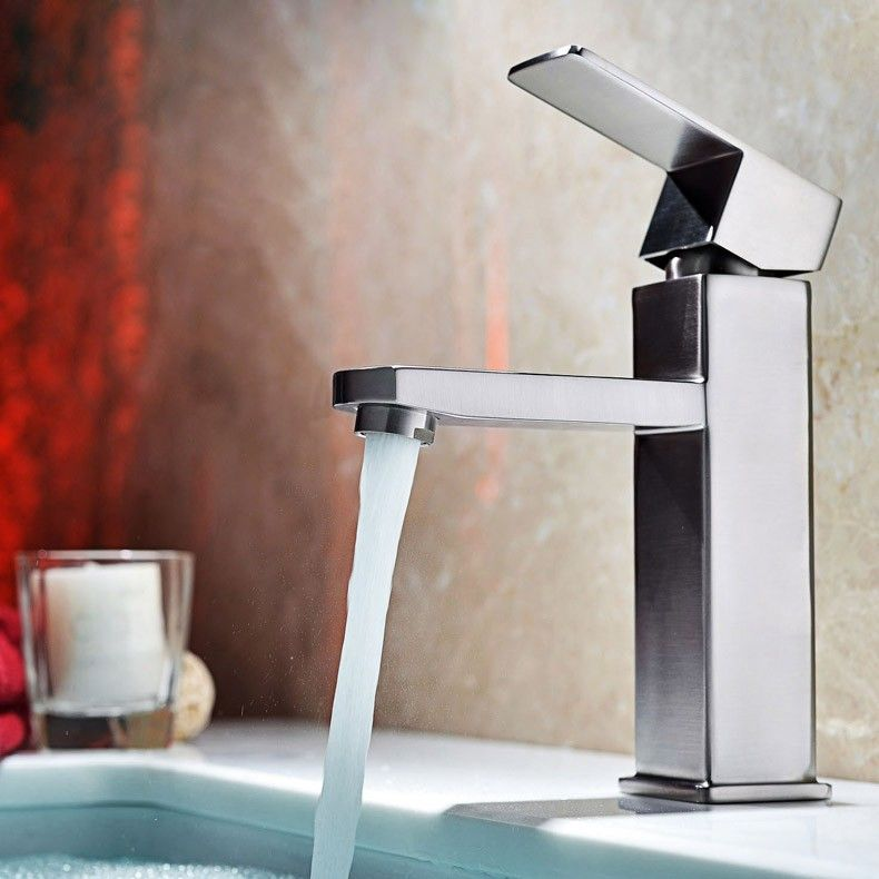 $82.99 Dree Modern Single Hole Faucet for Bathroom Sinks in Brushed ...