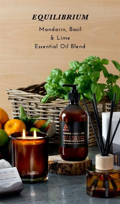 Urban Rituelle Equilibrium Collection Mandarin Basil Lime Essential Lime Essential Oil Spring Cleaning Home Fragrance