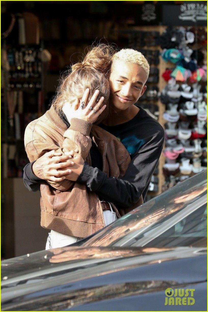 Jaden Smith Steals A Kiss From Girlfriend Odessa Adlon