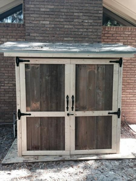 Do It Yourself Home Design: Reclaimed Wood Outdoor Storage Shed
