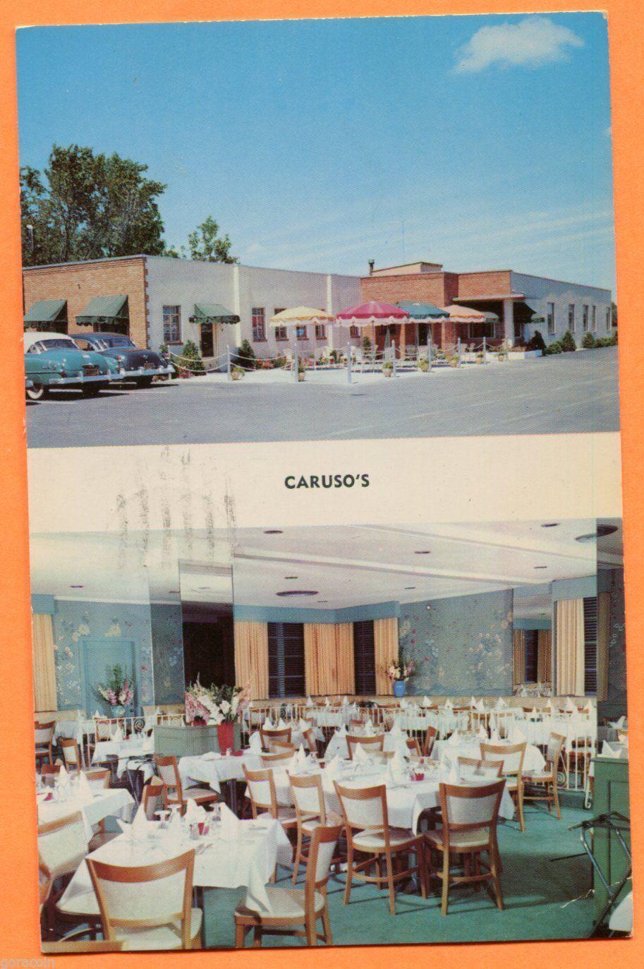 Caruso S Restaurant Est 1930 158 Lake Street Canandaigua Ny 1953