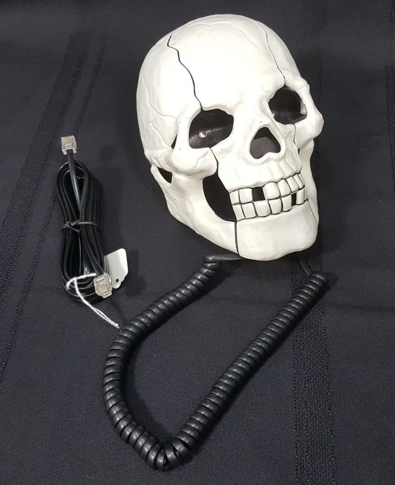 Skull Shaped Telephone Halloween Decoration Anatomy Dentistry Creepy ...