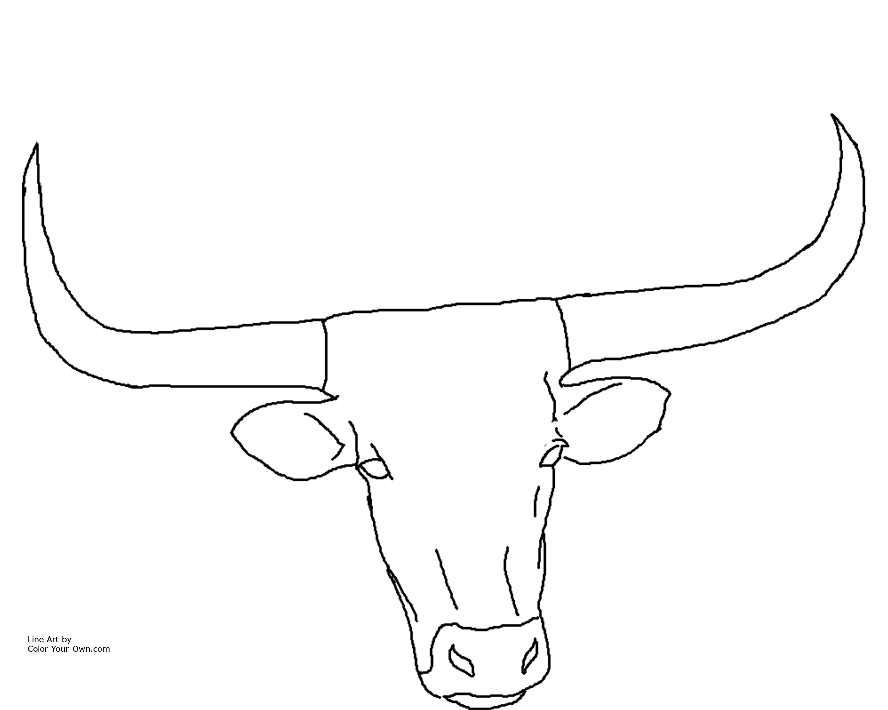 Texas Longhorn Coloring Pages Cow Coloring Pages Cartoon