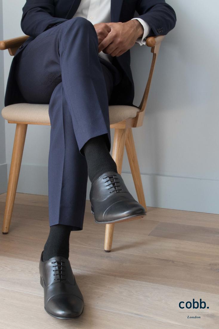 Black shoes men, Black leather oxford