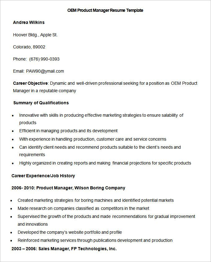 13+ Free Manufacturing Resume Templates Word  PDF Sampleformats - stenographer resume
