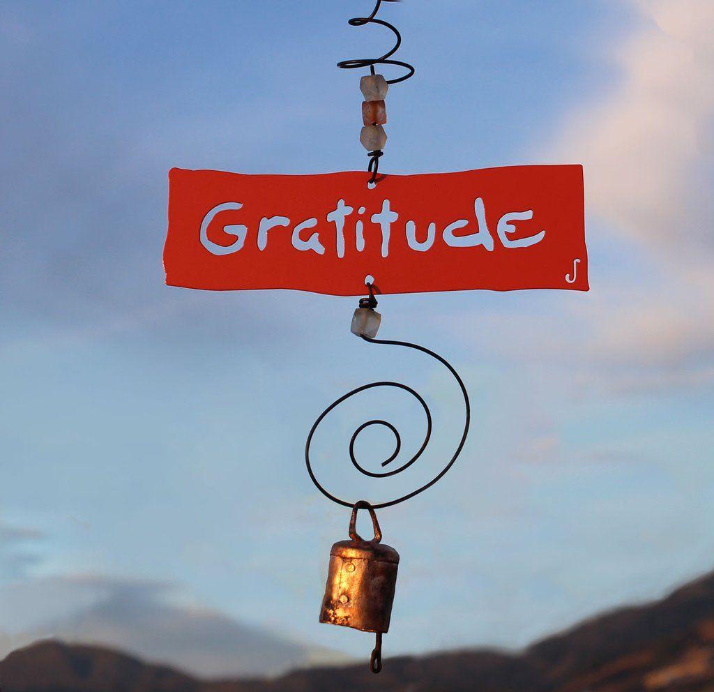 Gratitude Inspirational Chime Gratitude decor