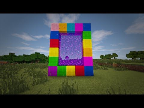 Minecraft - How to make a Portal to CANDY LAND!! (No mods