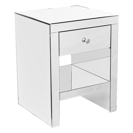 Mirrored Bedside Cabinet 2401374 Bedroom Furniture
