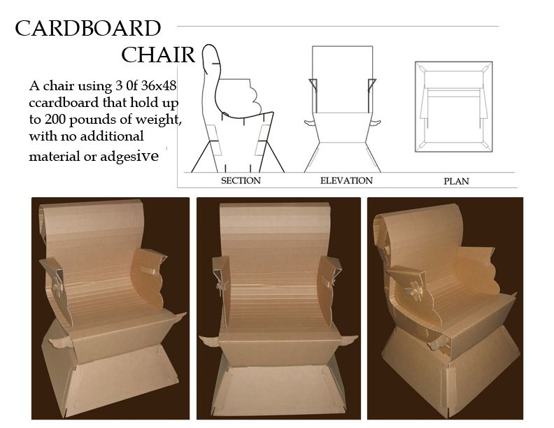 Full Size Cardboard Chair By Gafemonx