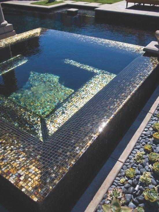 Metallic Tile Pool Swimming Pool Tiles Luxury Swimming Pools Mosaic Pool