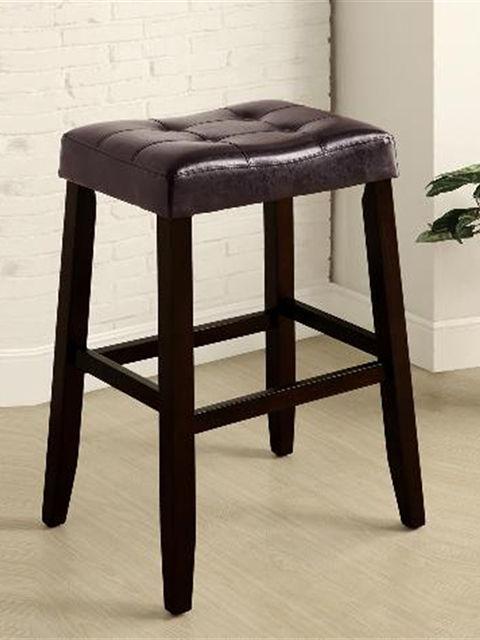 Kent 29 Inch Espresso Saddle Stool Bar Stools Luxury Furniture