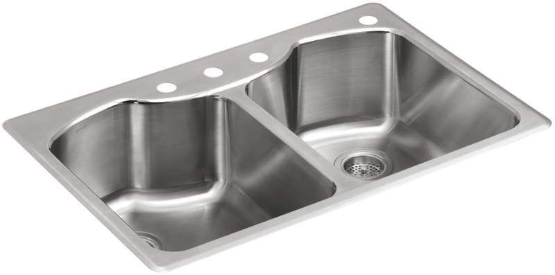 Kohler K 3842 4 Double Bowl Kitchen Sink Sink Stainless Steel