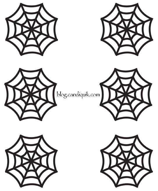 Easy DIY Halloween Cupcake Toppers | Recipe | Spider webs, Cupcake ...