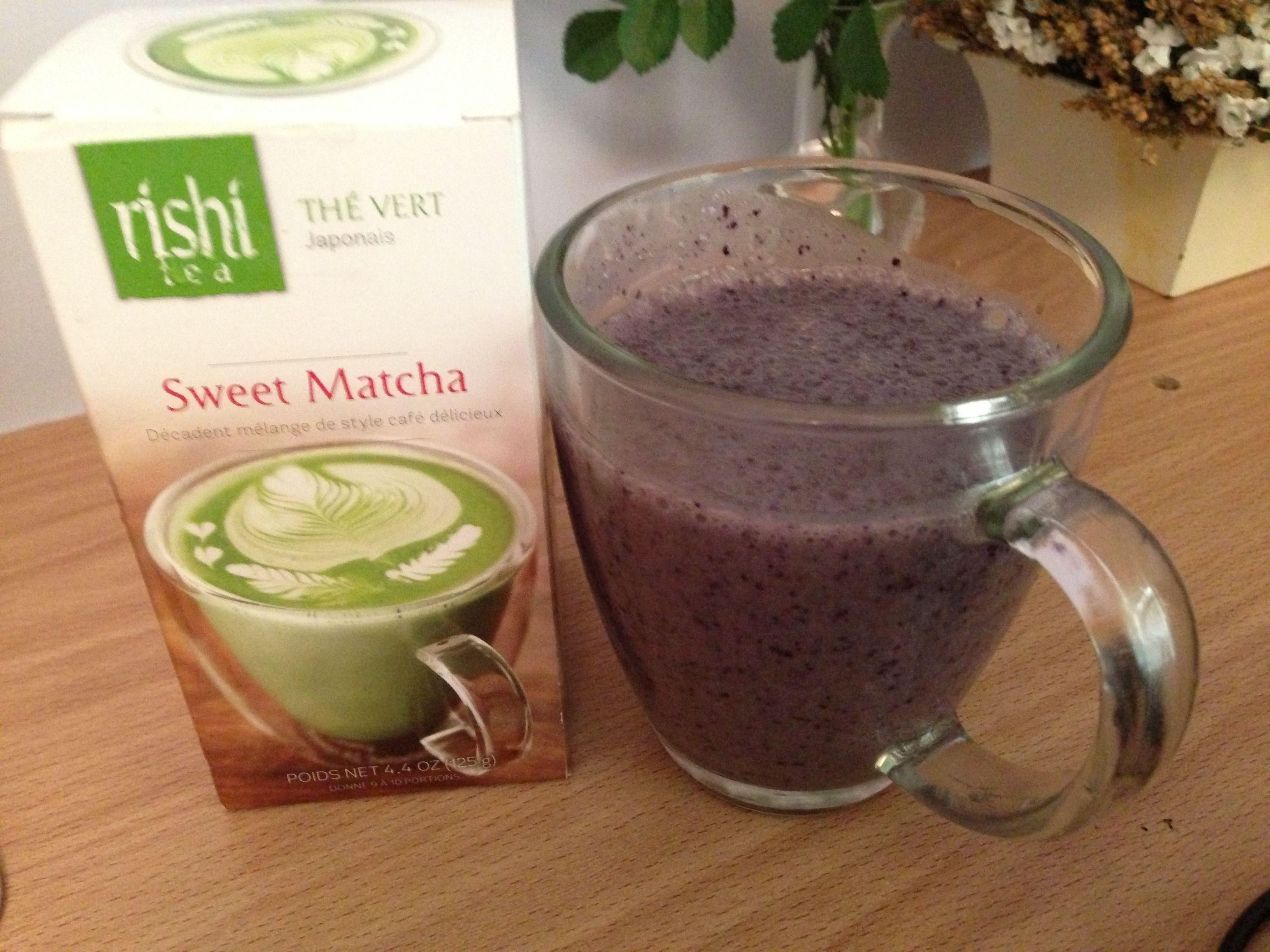Matcha blueberry smoothie full of antioxidants