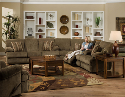 Cloth Sectionals With Recliners Reclining Sectional Extra Soft Chenille Fabric 1881 1889 1888