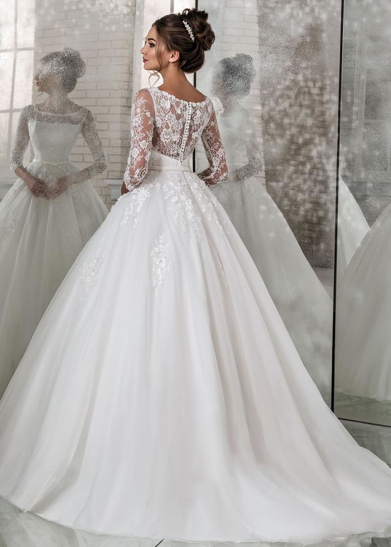 Best wedding dresses aliexpress  Modest Lace u Tulle Scoop Neckline Natural Waistline Ball Gown