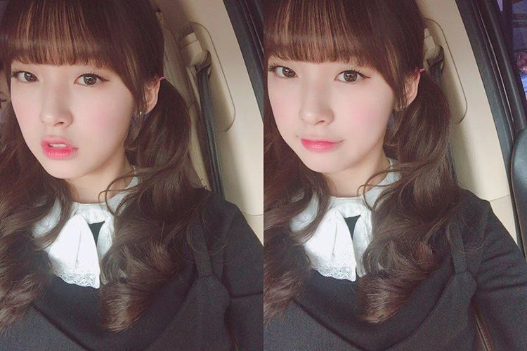 """wm_ohmygirl: ☕ 호오~ #Arin #아린 #OHMYGIRL #오마이걸 #OMG #daily #사랑둥이 #막내 #병아린 """"☕Ho~ #Arin #OHMYGIRL #OMG #daily #lovelycutie #maknae #chick-arin Trans: roz @ fyohmygirl Please take out with full credits to source and translator."""""""