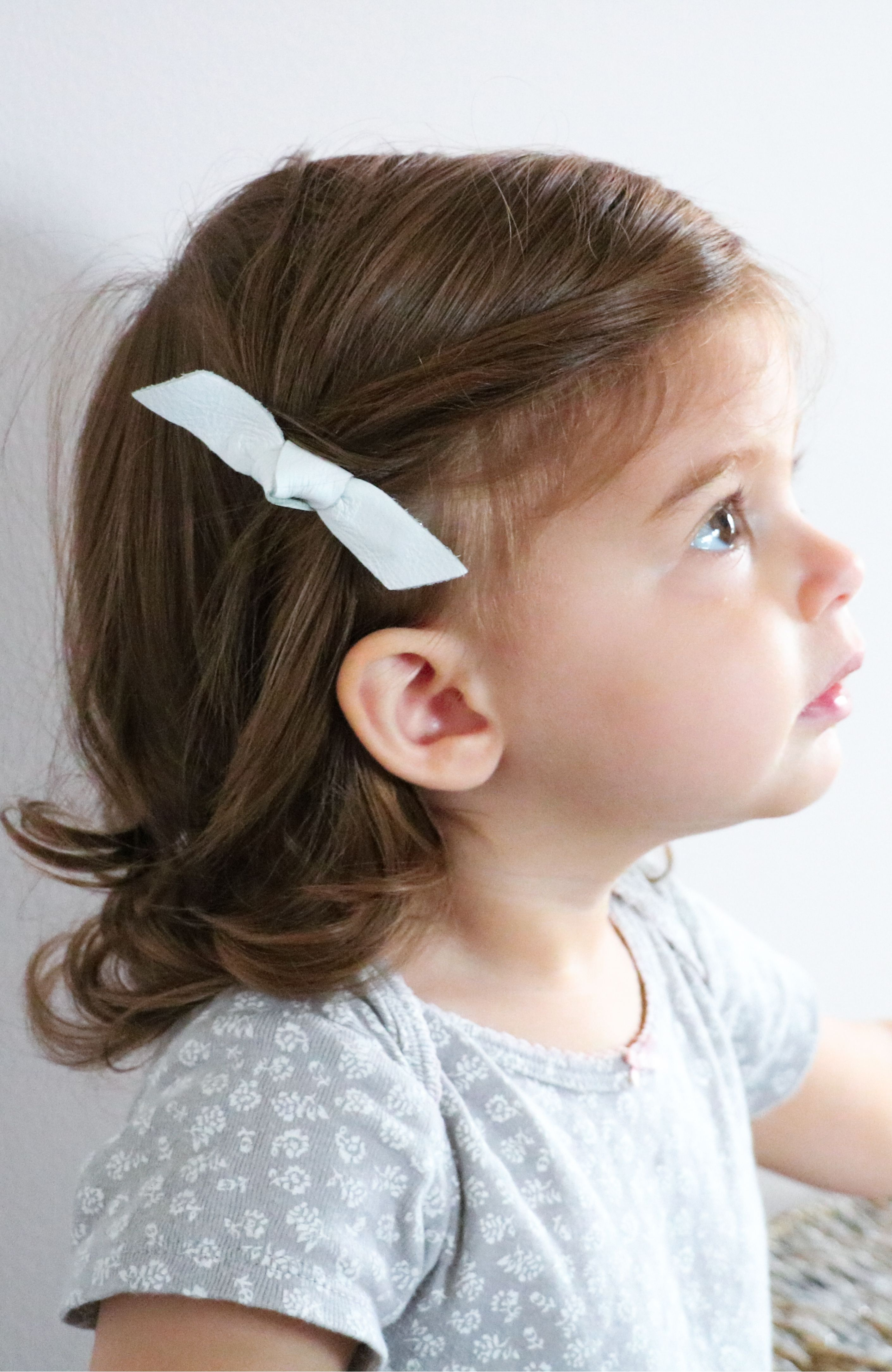 Clips Gift Set Headband Gift Set BUNDLE OF 3 Large Leather Bow Headbands or Clips *Natural Collection*- Infertility Baby Genuine Leather