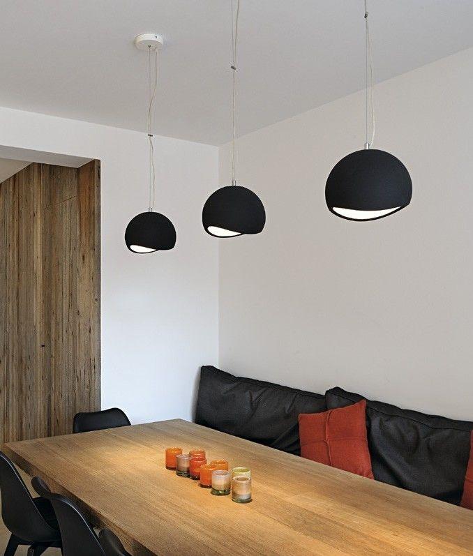 Paintable plaster globe pendant · lighting