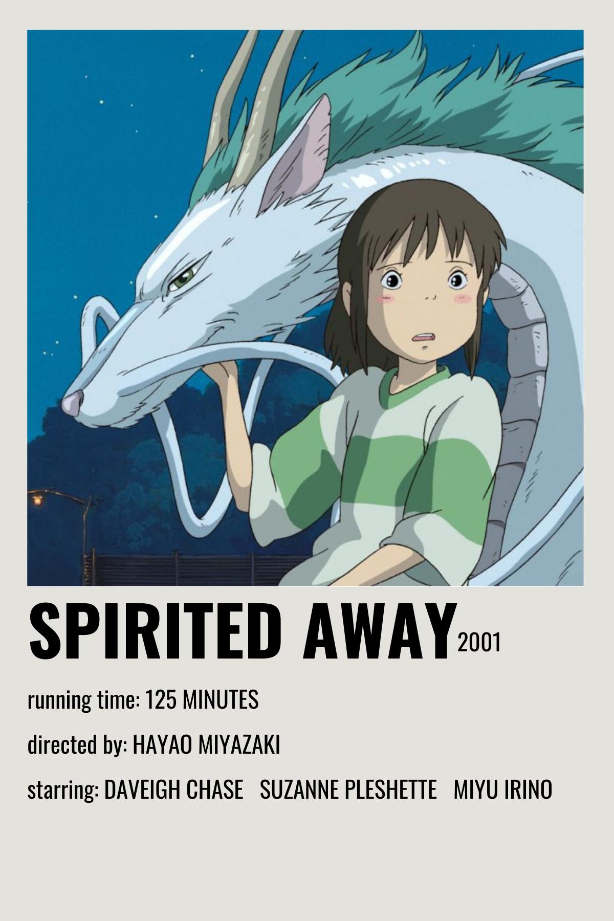 spirited away movie poster