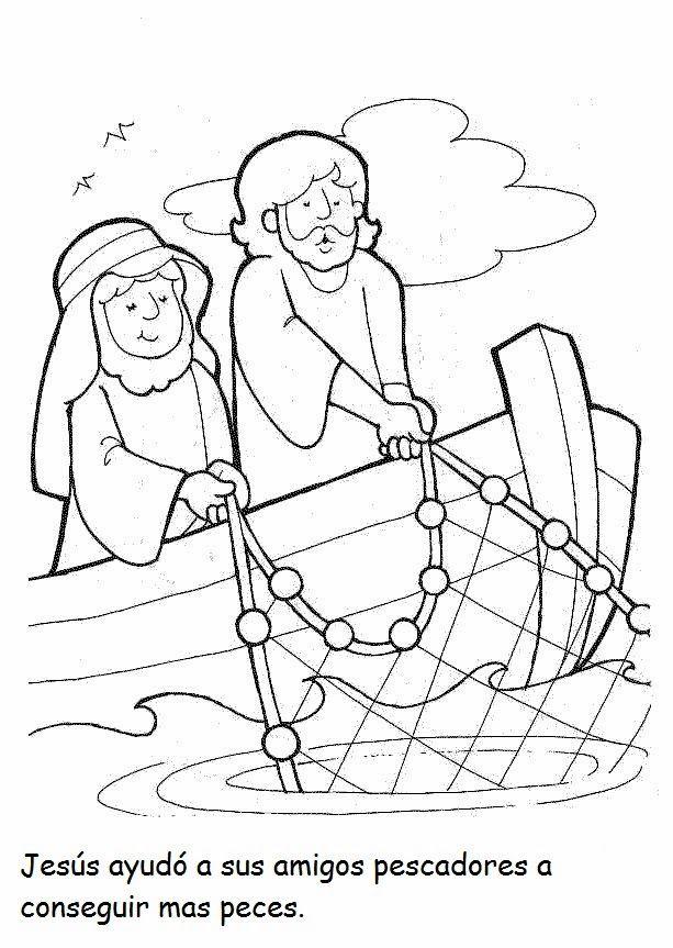 Milagros de Jesús. La pesca milagrosa | children | Pinterest ...