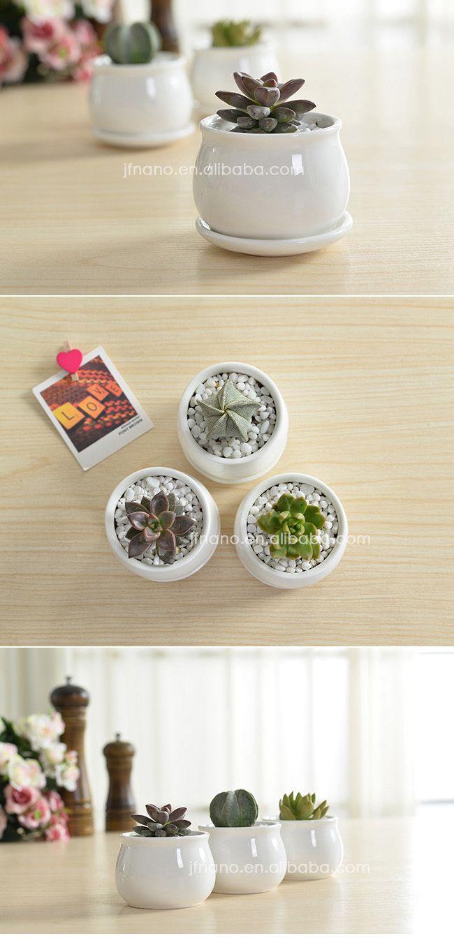 Modern Indoor Decor Small White Ceramic Flower Pot - Buy White ...