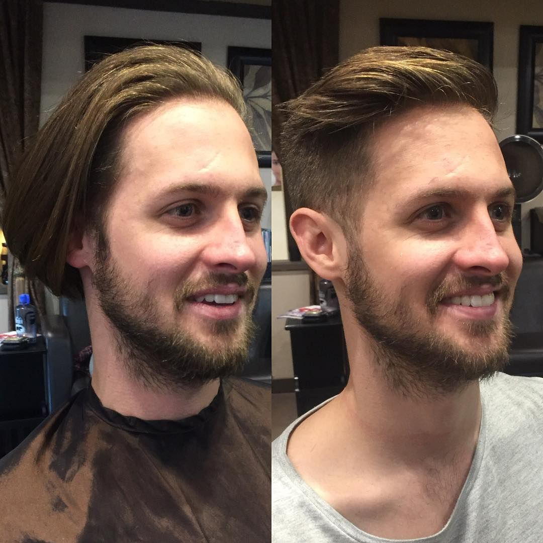17 Men Who Became Incredibly Handsome After A Simple Haircut Long To Short Hair Curly Hair Men Simple Mens Haircuts
