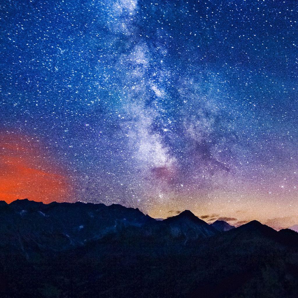 Milky Way Mountains iPad Wallpapers Galaxy wallpaper