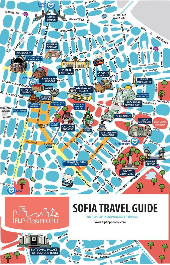 Interactive map of Sofias tourist sights Discover Sofia