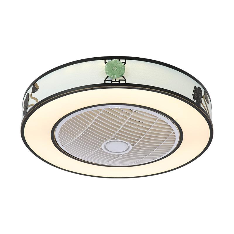 Modern Led Ceiling Fan Light Energy Saving Flush Mount Living Room