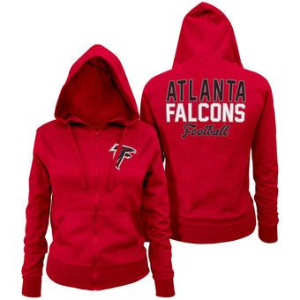 3d336af80 Women s Atlanta Falcons 5th   Ocean by New Era Red Halfback Full-Zip Hoodie