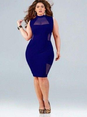 Vestido azul para gordita