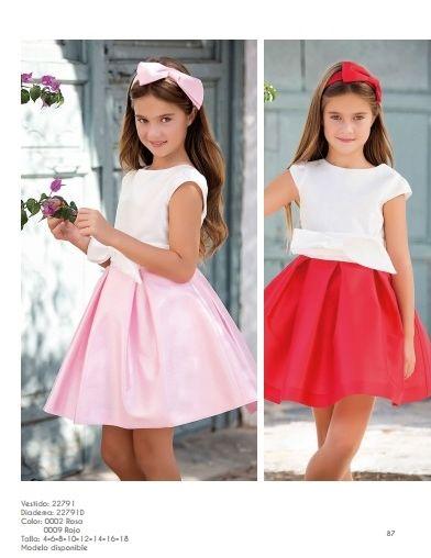 Ceremonia Y Comunión 2020 Vestidos Para Niñas Vestidos Para Chicas Moda Para Niñas